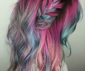 hair, colorful, and colorful hair image