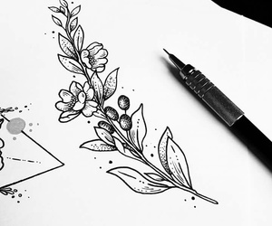 draw, flowers, and lavanda image