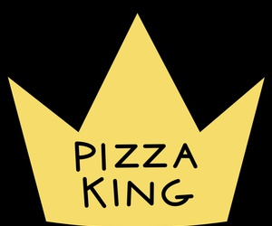 pizza, king, and overlay image