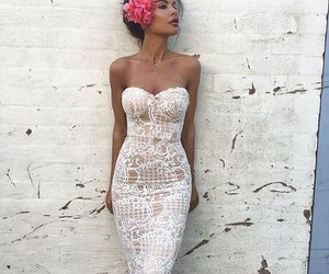 fashion, dress, and flowers image