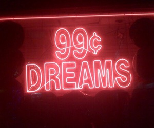 red, Dream, and neon image