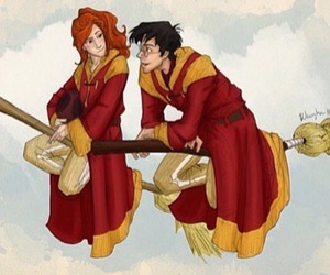 harry potter, ginny weasley, and quidditch image