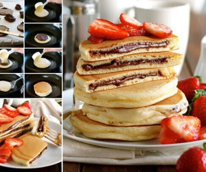food, pancakes, and diy image