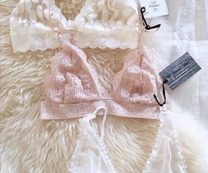 bralette, pink, and white image