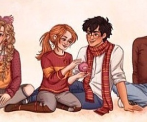 art, drawing, and ginny weasley image