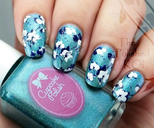 blue, blue orchid, and floral image