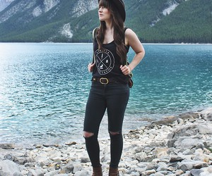 boots, fashion, and indie style image