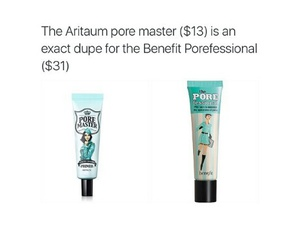 benefit and dupe makeup image