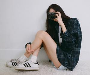 asian, korean girl, and casual image
