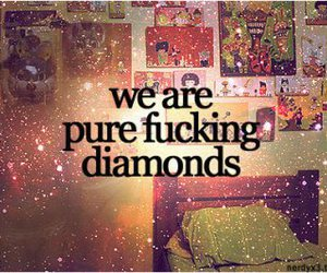 diamond, quote, and text image