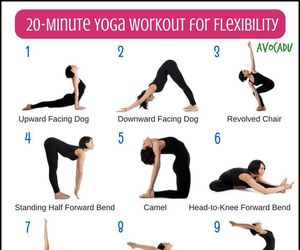 workout, flexibility, and yoga image