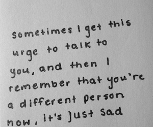 quotes, sad, and different image