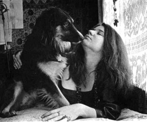janis joplin and dog image