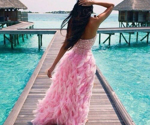 dress, pink, and summer image