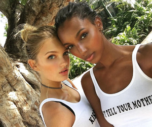 model, jasmine tookes, and romee strijd image