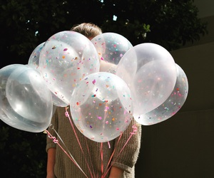 balloons, birthday, and cool image