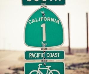 california, beach, and bike image