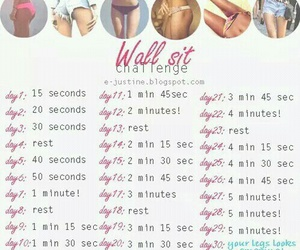 challenge, fitness, and wall sit image