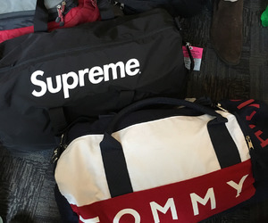 supreme, tommy, and bags image