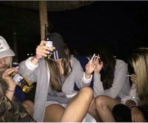 alcohol, girls, and night image