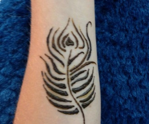 beautiful, feather, and henna image
