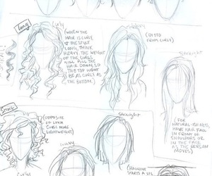 hair, drawing, and tutorial image