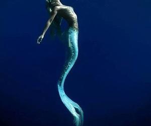 mermaid, ocean, and beautiful image