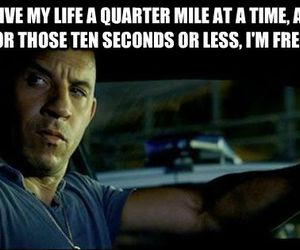 dom, fast and furious, and quote image