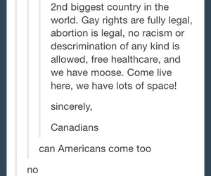 america, funny, and canada image