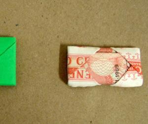 instructions, money fold, and origami image