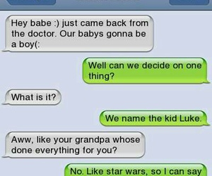 funny, star wars, and girlfriend image