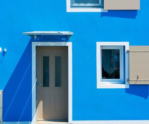 blue, house, and door image