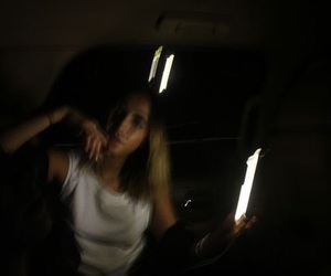 girl and dark image