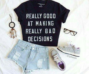 fashion, outfit, and glasses image