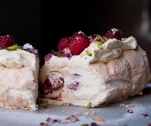 dessert, meringue, and pavlova image