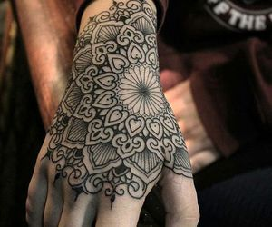 hand, tattoo, and ink image
