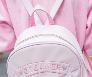 pink, pastel, and bag image