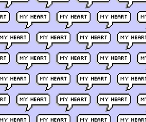 heart, lavender, and purple image