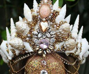 crown, fashion, and mermaid image