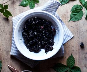 blackberries, fruit, and marshmallow image