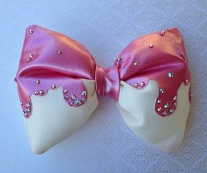 hair bow, pink bow, and cute bow image