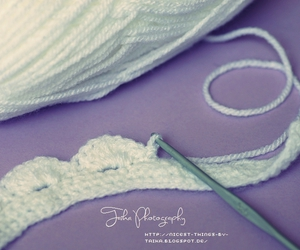 crochet, white, and wool image