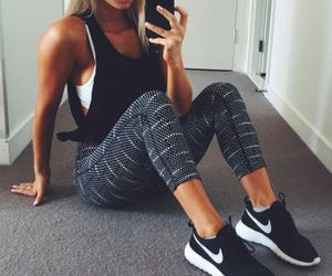 fitness, fashion, and workout image
