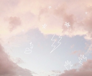 pastel, sky, and pink image