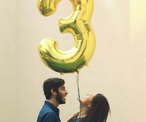 anniversary, balloon, and couple image