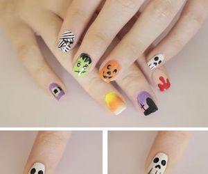 Halloween, nails, and diy image