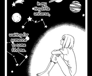black, girl, and universe image