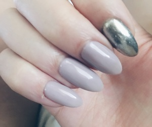 almond, dark pink, and grey image