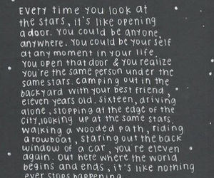 stars, quote, and beautiful image