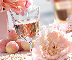 flowers, pearls, and pink image
